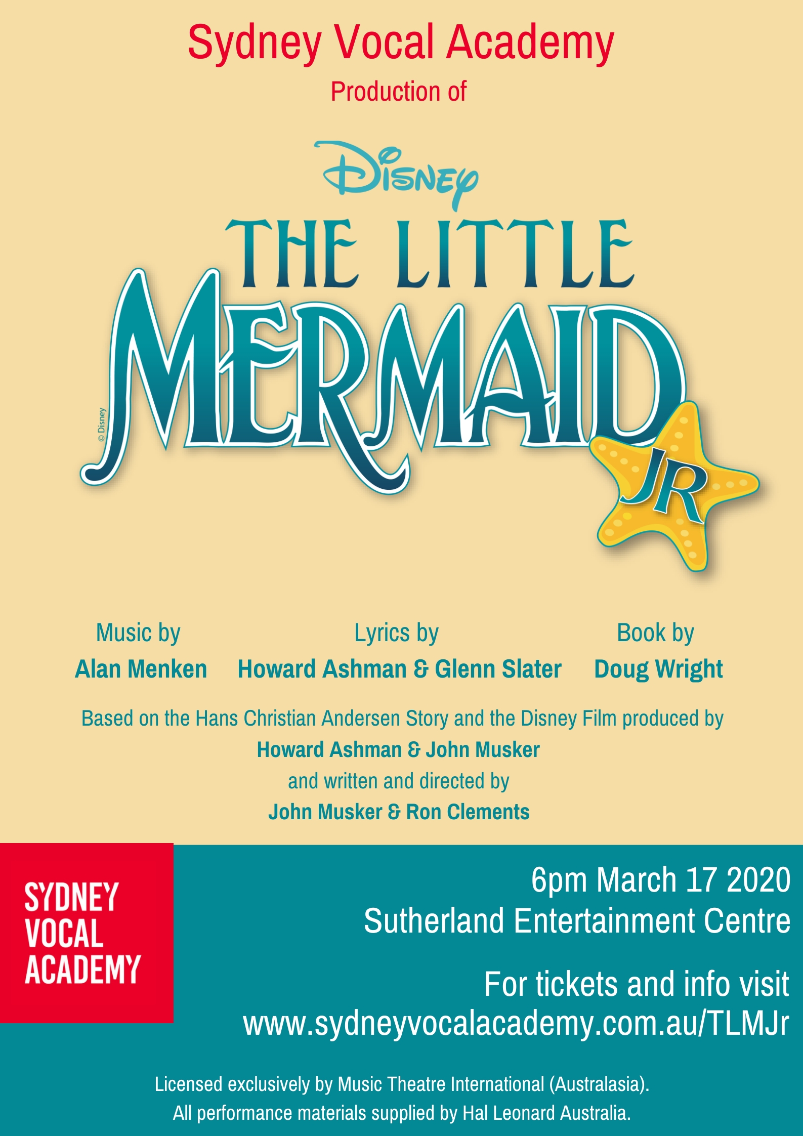 The Little Mermaid 1 - Tickets